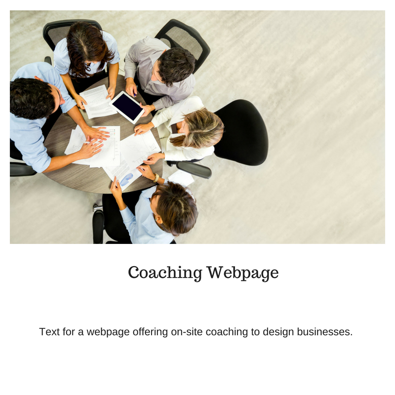 Website Text for Coaching Service