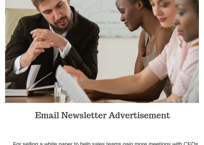Email Newsletter Ad