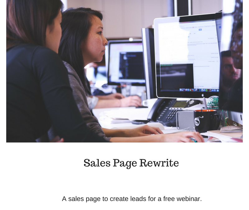 Sales Page Rewrite