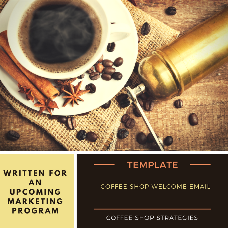 Coffee Shop Welcome Email