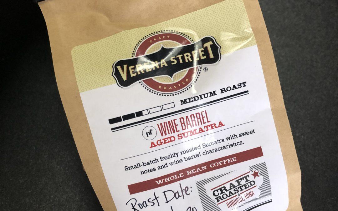 Verena Street's Wine Barrel Aged Sumatra