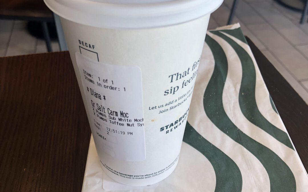 Starbucks Salted Caramel White Mocha