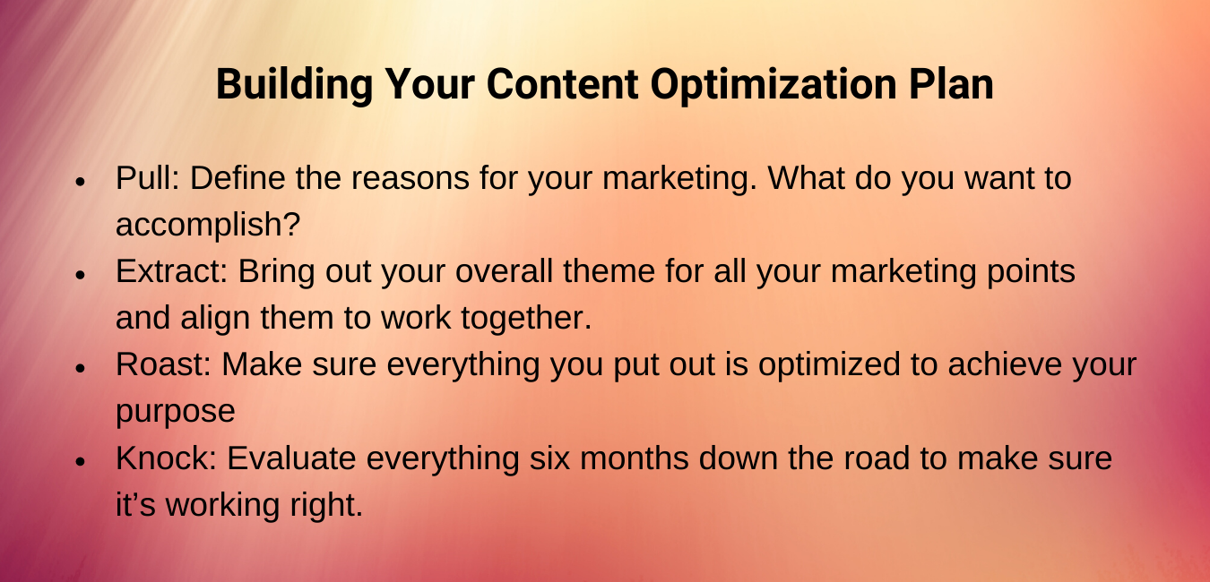 Steps to Creating Your Content Optimization Plan